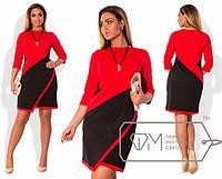 Модное женское платье Батал о-202317