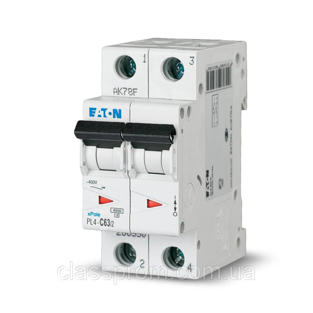 Автоматический выключатель PL4-B50/2 EATON
