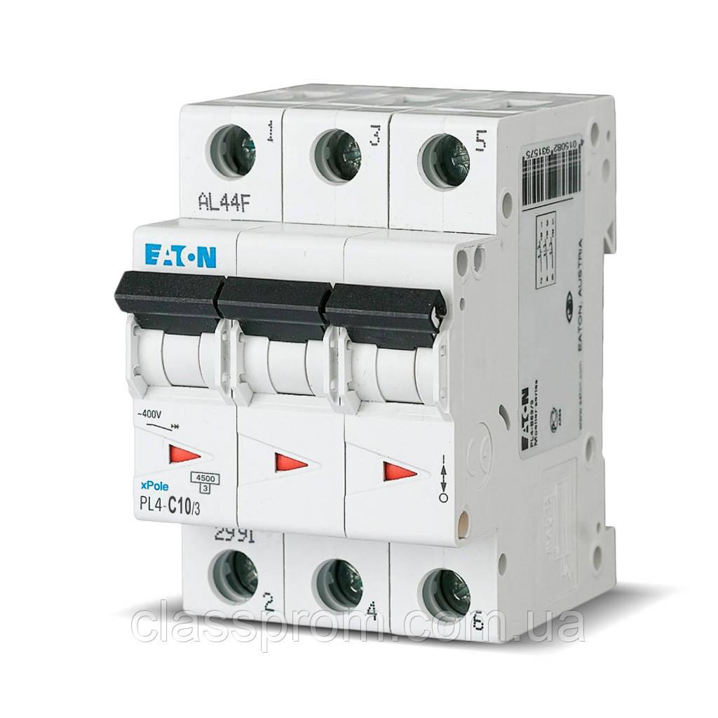 Автоматический выключатель PL4-B50/3 EATON