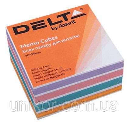 "Папір для нотаток не проклеєна, ""COLOR"" 9*9 500 аркушів. Delta by Axent"