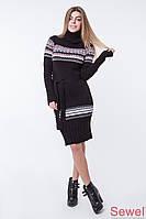 Модное вязаное зимнее платье