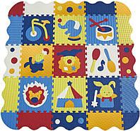 Детский игровой коврик-пазл Baby Great «Удивительный цирк» с бортиком