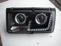 Передние фары на ВАЗ 2107 черные(Светомания)