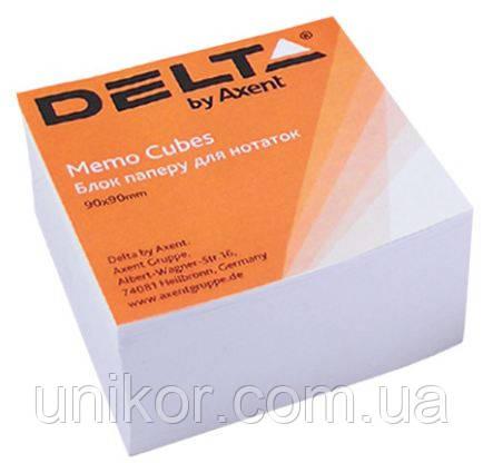 "Папір для нотаток не проклеєна, ""Біла"" 9*9 500 аркушів. Delta by Axent"