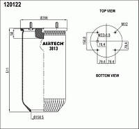 Пневморессора (3813P) без стакана (пр-во Airtech)