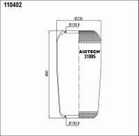 Пневморессора (31885) чулок (пр-во Airtech)