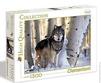 Пазл Clementoni - Волк. Зимняя охота