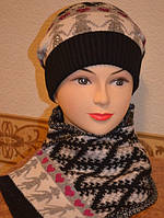 "Комплект женский шапка и шарф ""Хоровод"""