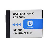 Аккумулятор NP-BD1 (NP-FD1) - аналог для фотоаппаратов Sony - 1200 ma