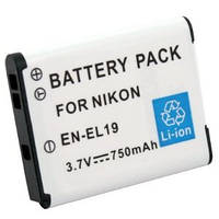 Аккумулятор EN-EL19 -аналог на 750 ма для камер NIKON COOLPIX: S2500, S4100, S4150, S4200, S4300, S3100, S3200