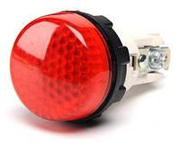 Арматура сигнальная 22мм с зажимами и патроном Ba9S без лампы красная