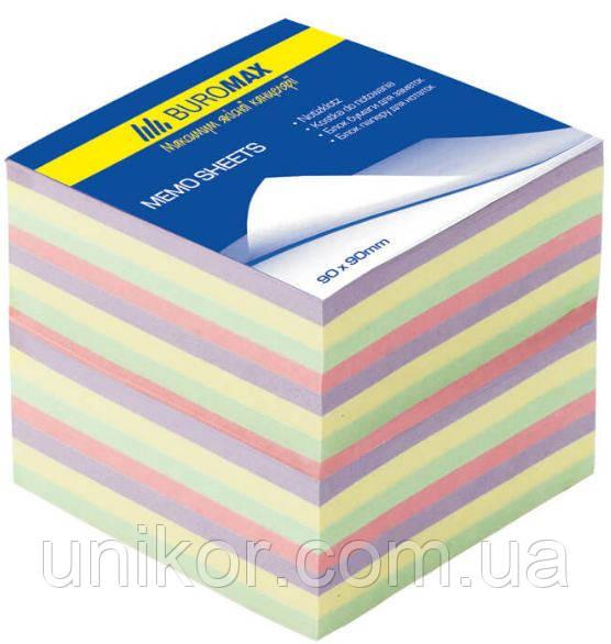 "Бумага для заметок не проклеенная, ""Декор"" 9*9 1100 листов. BuroMax"