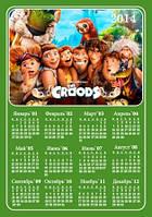 Календарь магнитный 2014. Семейка Крудс