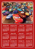 Календарь магнитный 2014. Тачки 01