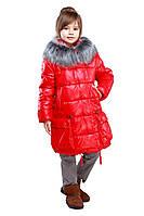 Красная курточка утеплена синтепухом