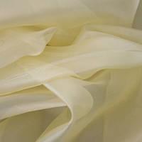 Тюль Микровуаль Семия светло - желтая, однотонная + высококачественный пошив