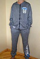 Спортивный костюм на мальчика серый 152-176