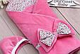Осенний конверт для новорожденных Винтаж розовый, фото 2