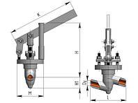 Вентиль (клапан) 1033-20-р Ду20, Ру37,3МПа,Т280С