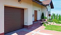Гаражные ворота секционные Wisniowski 2500х2000 мм, Цвет коричневый