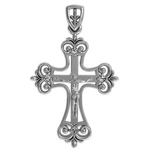 Крест серебряный Ажурный 410900