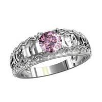 Кольцо серебряное  Спаси и Сохрани с Камнем 211330