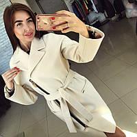 Пальто женское Риксос молоко , женски пальто