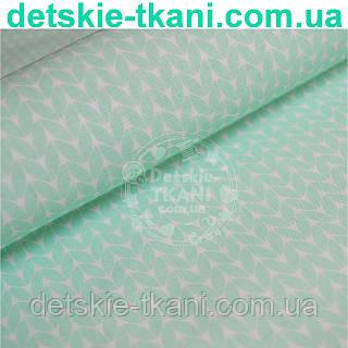 """Ткань хлопковая Bora """"Свитерок"""", мятный цвет ( № 346 б)"""