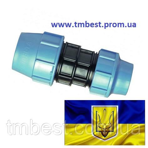 Муфта 75*50 ПНД редукційна затискна компресійна, фото 2