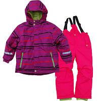 Зимний комплект на девочку, куртка и полукомбинезон, лыжный р.110 ТМ Pidilidi-Bugga (Чехия)
