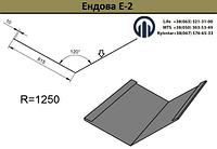 Планка стыка Ендова  Е-2  (615мм) оцинкованный, фото 1