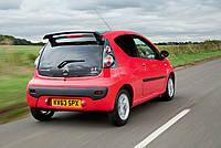 Спойлер тюнинг Peugeot 107 стиль RC