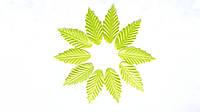 Листики Оливковые из ткани 4.5x2 см 10 шт/уп