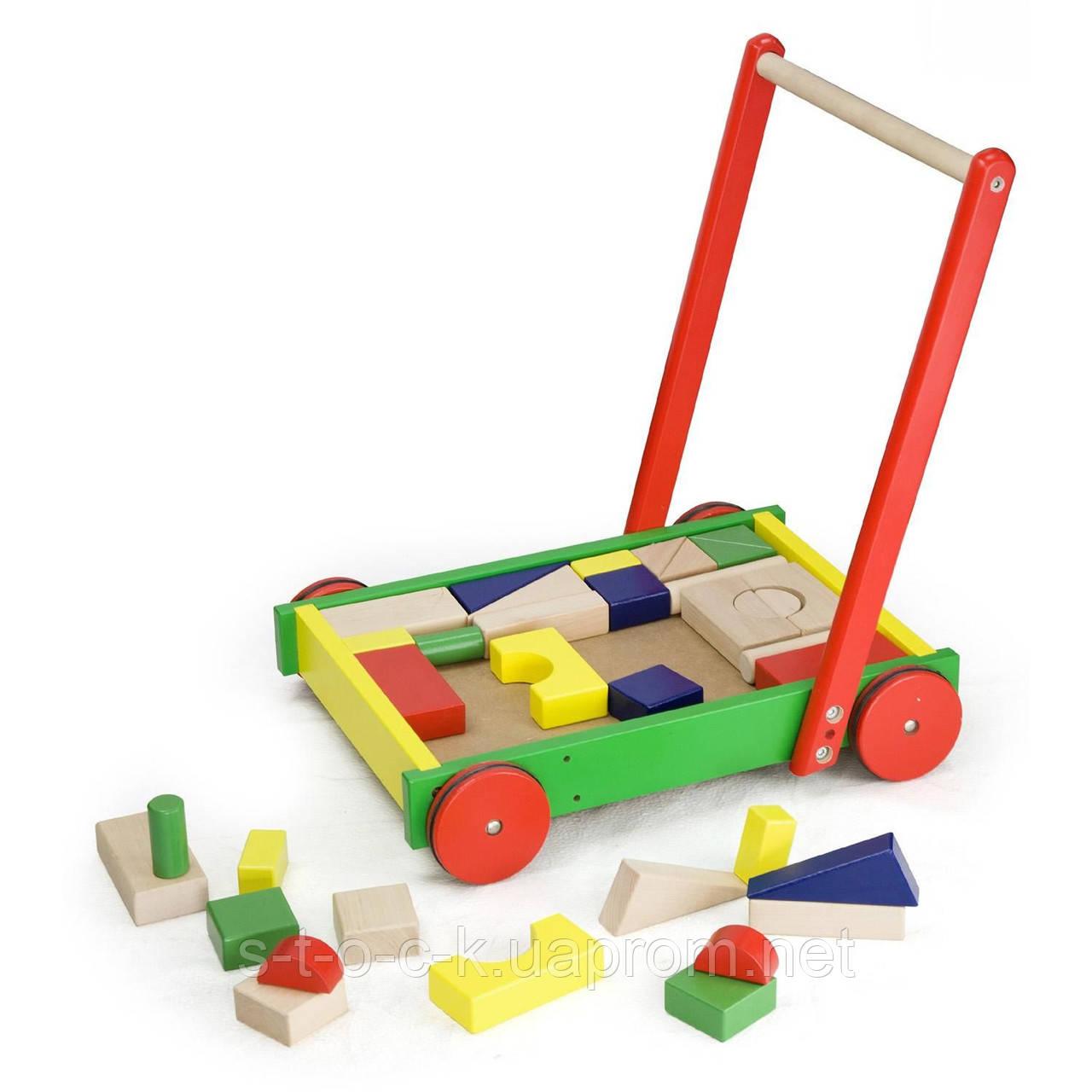 Toys Viga каталка с конструктором 50306
