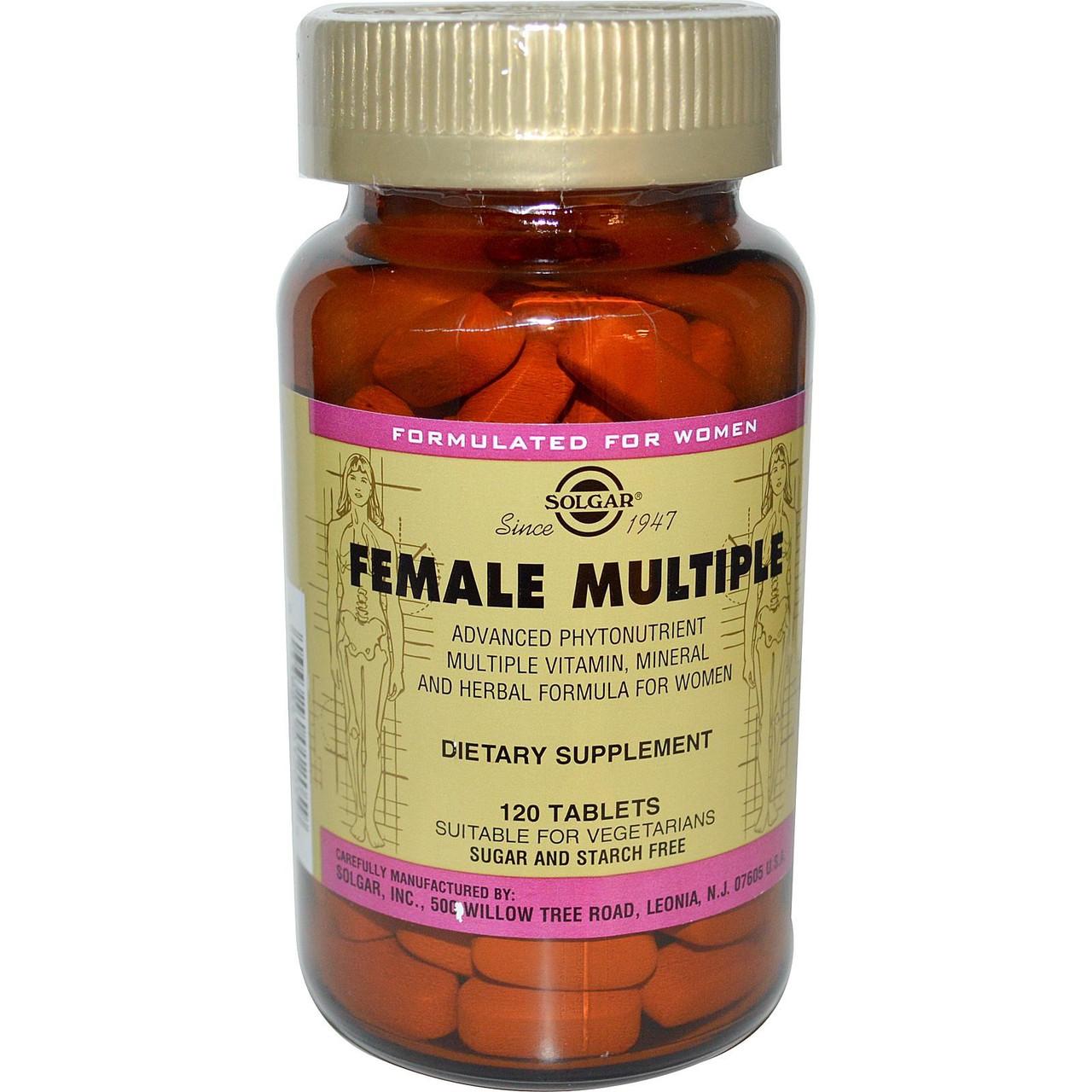 Мультивитамины и минералы для женщин, Solgar, 120 таблеток. Сделано в США.