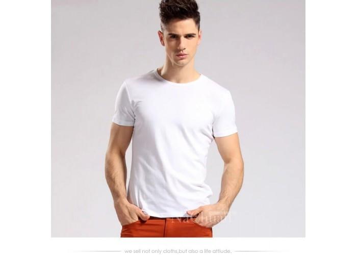 Белая футболка orig хлопок 100%  размеры M, L, XL, XXL код 1561