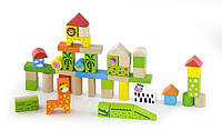 Набор кубиков Viga Toys Зоопарк(50 шт., 3 см.) (50286)