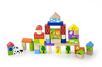 Набор кубиков Viga Toys Ферма (50 шт., 3 см.) (50286)
