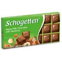 Шоколад молочный Schogеtten Alpine milk chocolate with Hazelnuts с орехом 100г