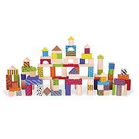 Деревянная игрушка Viga Конструктор Город 100 элементов 59696