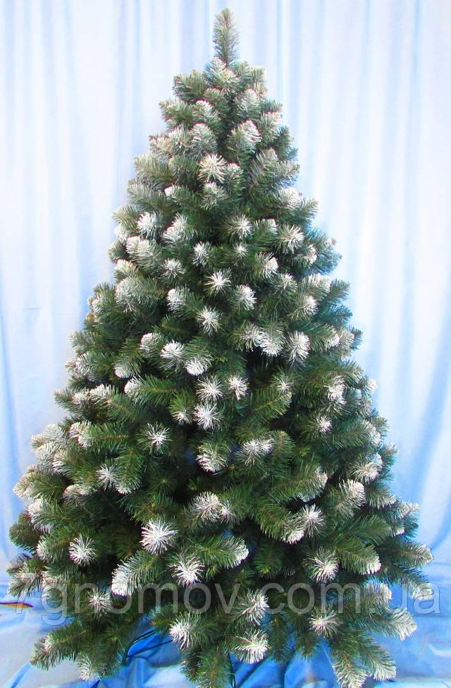 искусственная елка на нитях с инеем