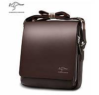 Мужская брендовая повседневная офисная модная стильная кожаная сумка KANGAROO KINGDOM