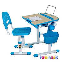Комплект FunDesk Парта и стул-трансформеры Cura Blue
