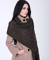 Красивая ажурная женская шаль