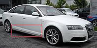 Накладки на двери молдинги листва Audi A6 C6 стиль S6