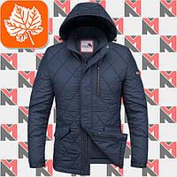 Стеганая осенняя куртка Braggart - 1214 св. синий - белый