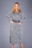 Платье из меланжевого трикотажа от производителя