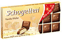 Шоколад молочный Schogеtten Vanilla-Wafer ванильно-вафельный 100г