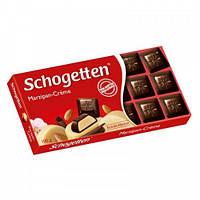 Шоколад черный Schogеtten Marzipan Cream марципан крем 100г