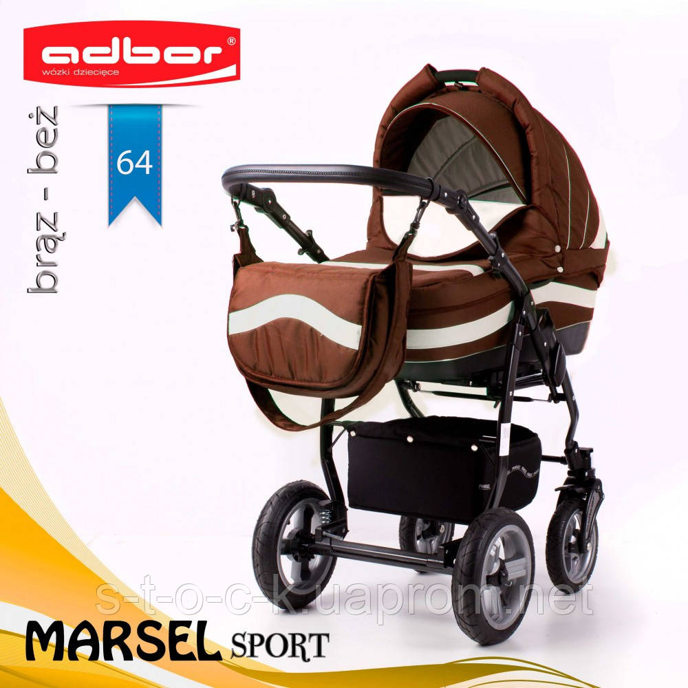 Коляска 2 в 1 Adbor Marsel Sport 64